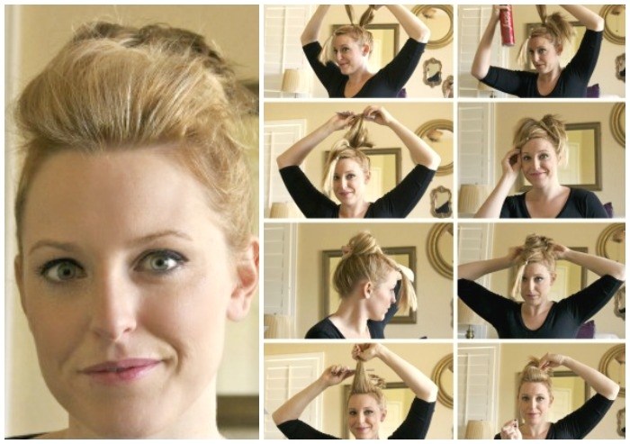 12 Fabulous Short Hair Updo Tutorials Diy Thought