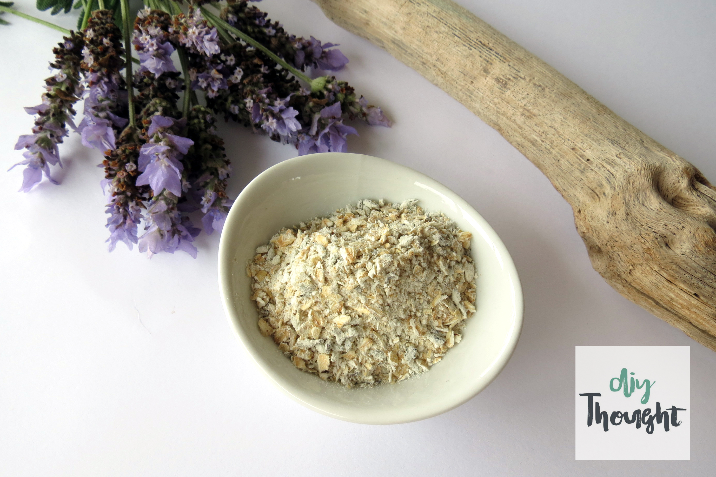Homemade Lavender & Oat Bath Soak - diy