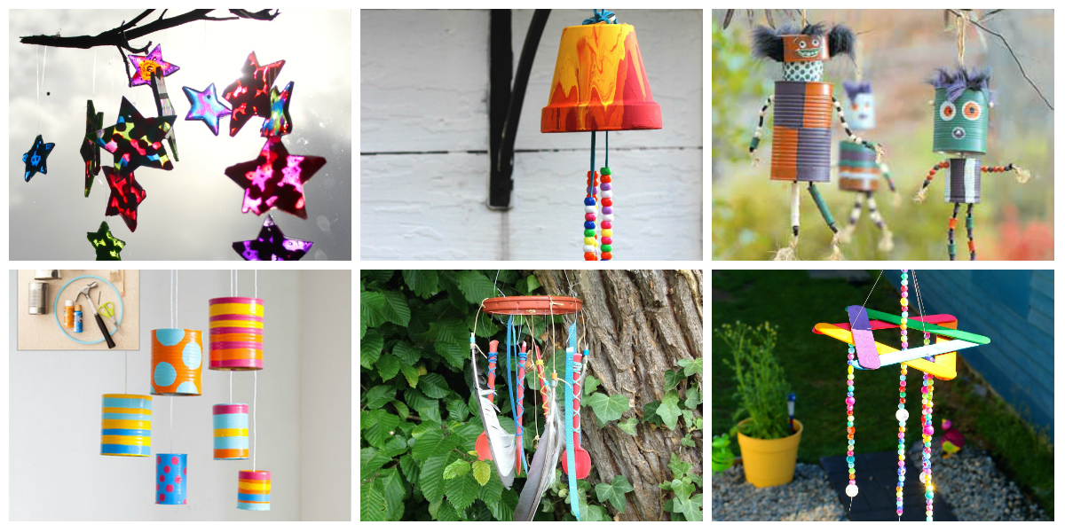 8 wind chime kids crafts diy thought for Homemade wind chimes for kids