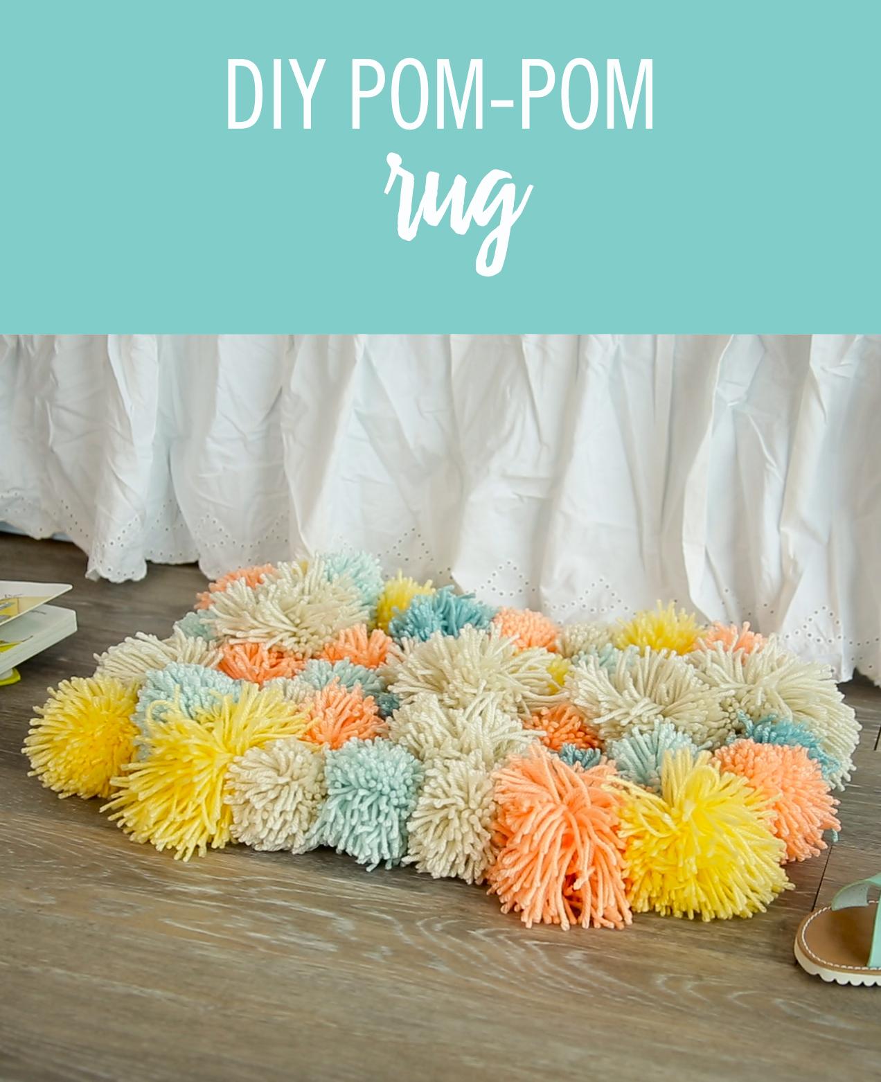 Diy Fluffy Pom Rug Thought