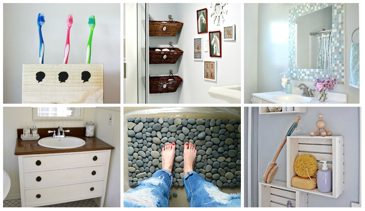 9 diy bathroom ideas diy thought for Bathroom designs diy