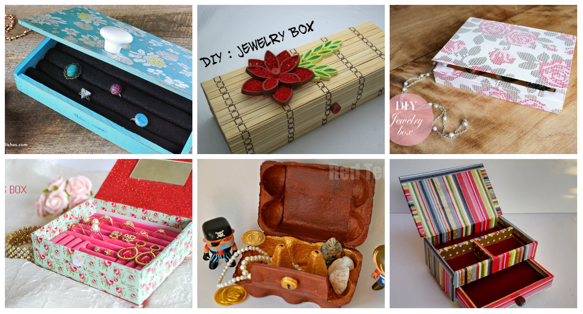 9 Diy Jewelry Boxes Diy Thought