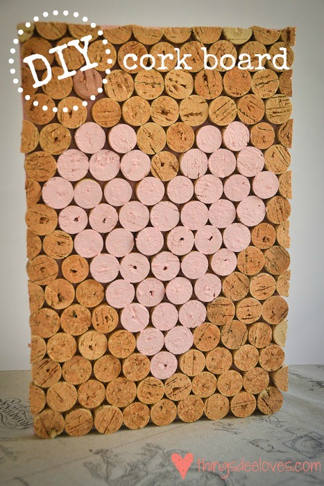 Image gallery homemade cork board for Cork ideas