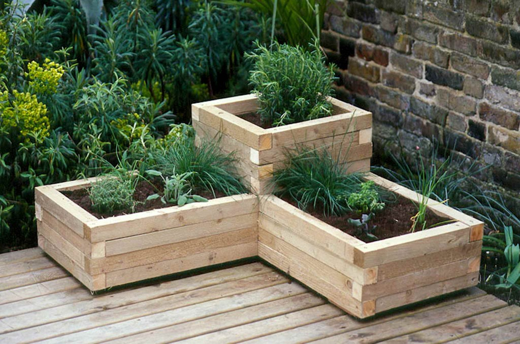 7 unique diy garden planter boxes diy thought rh diythought com diy planter boxes vegetables homemade planter box plans