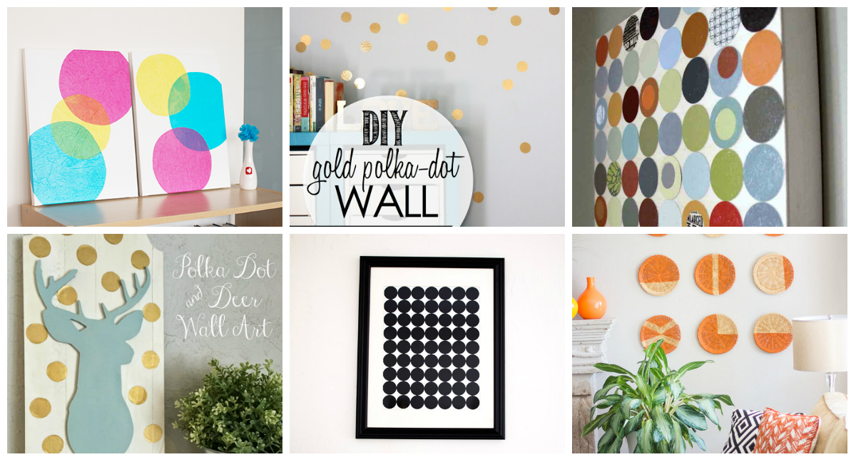 11 Diy Spotty Dotty Circular Wall Art Projects - diy Thought