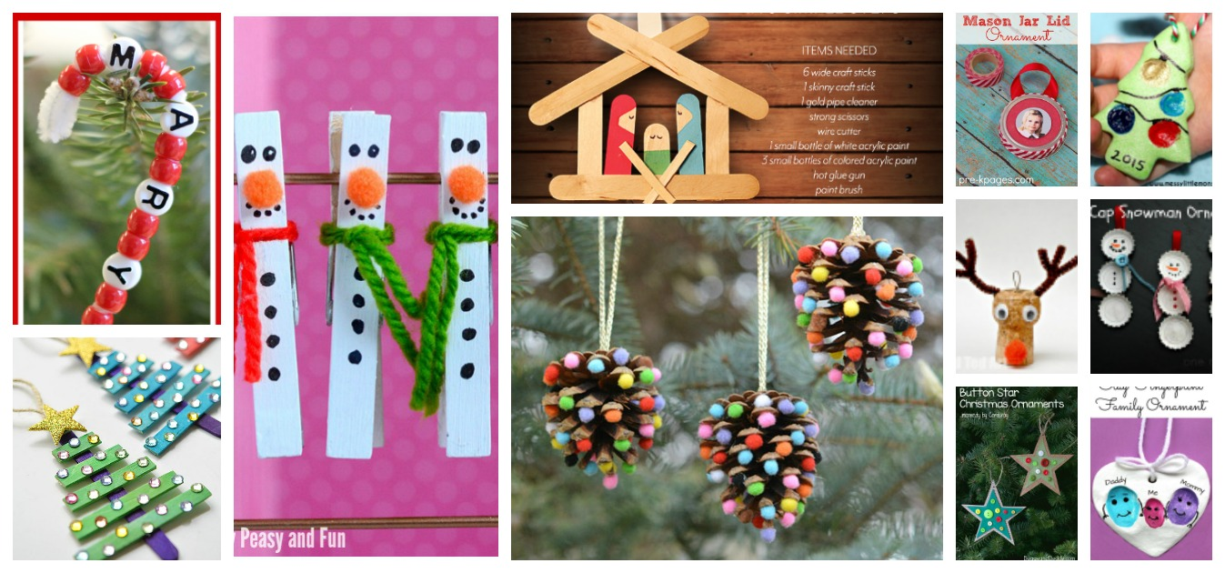 11 Christmas Tree Ornaments For Children To Make