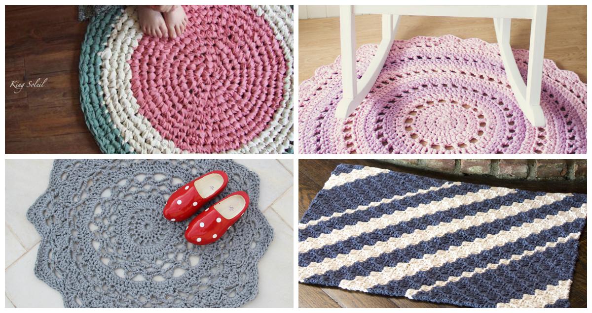 5 Chunky Crochet Rugs
