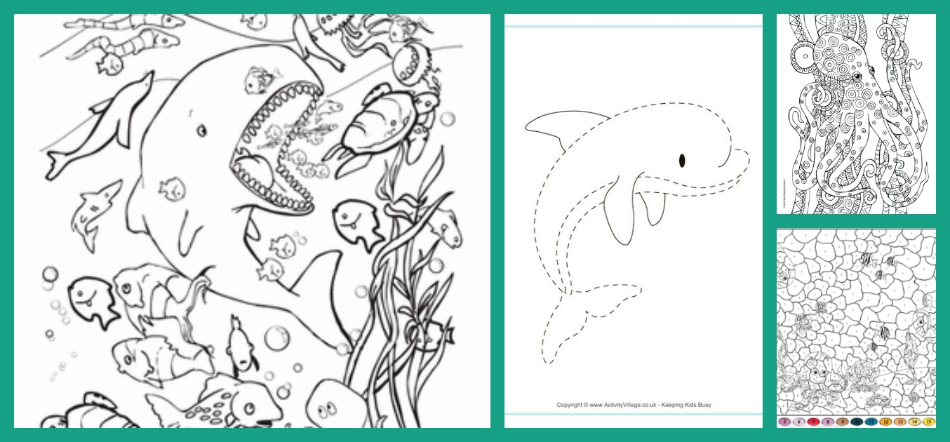 5 Underwater Coloring Pages - diy Thought