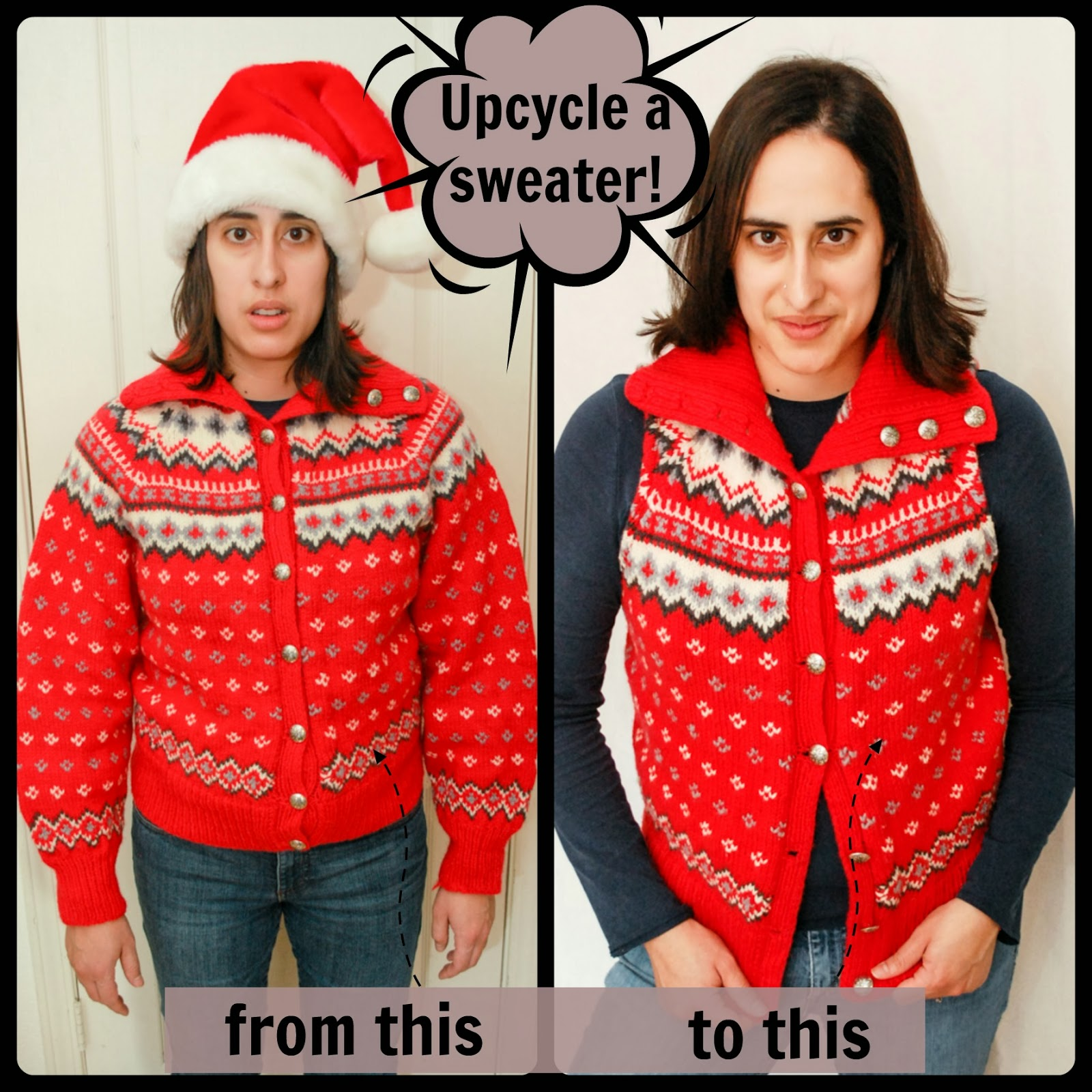 6 Ways To Transform A Sweater Into New Clothing - diy Thought