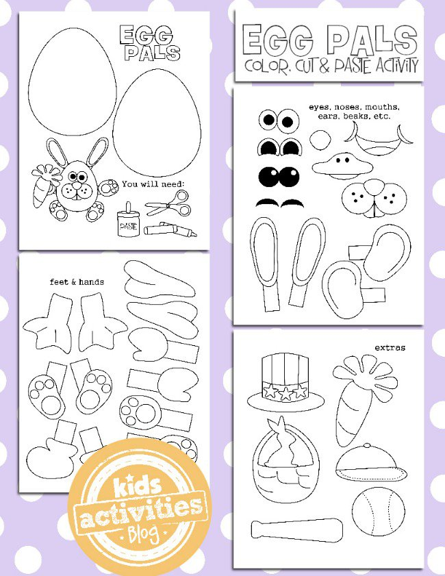 This Free Printable Is SO Much Fun Cutting Coloring Sticking To Create Your Own Magical Easter Bunny Picture Head Over The Kids Activities Blog