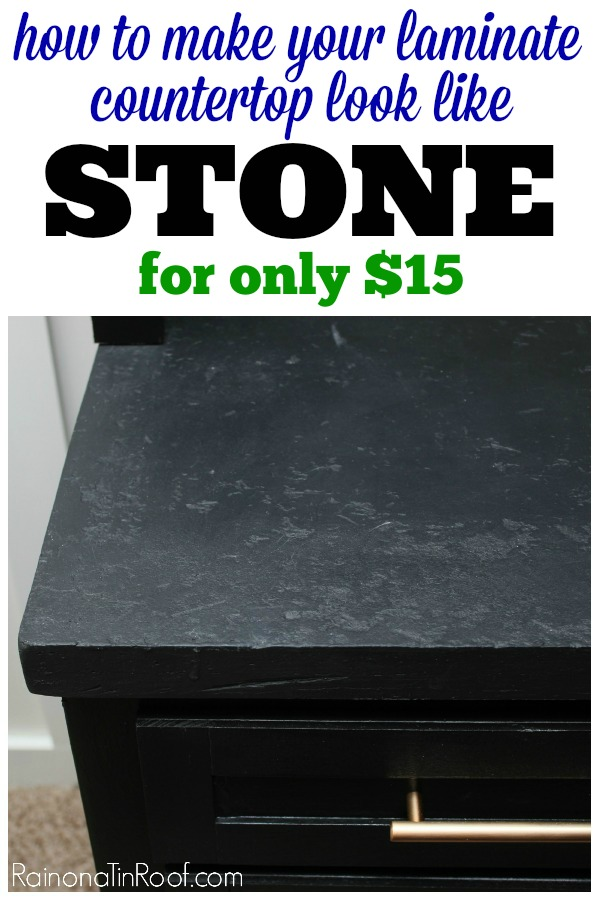 Peel Off That Old Laminate And Paint With Chalk Paint To Achieve This  Stylish Stone Look Countertop. Find Out More By Clicking Here.