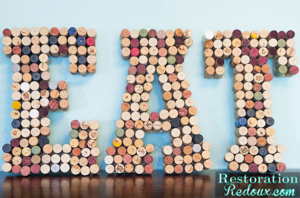 These cork letters are perfect for the