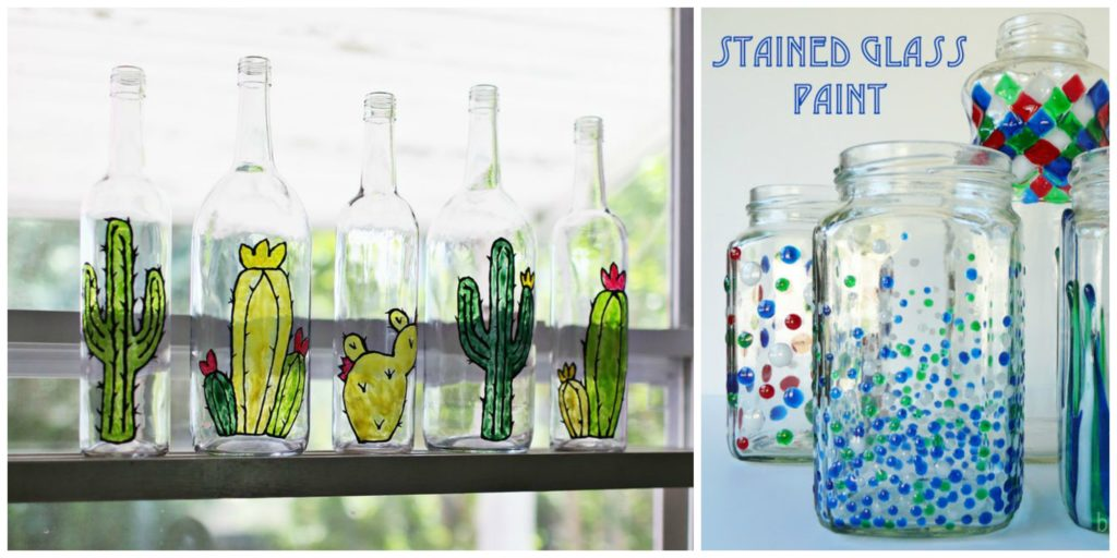 5 Diy Stained Glass Vases And Jars Diy Thought