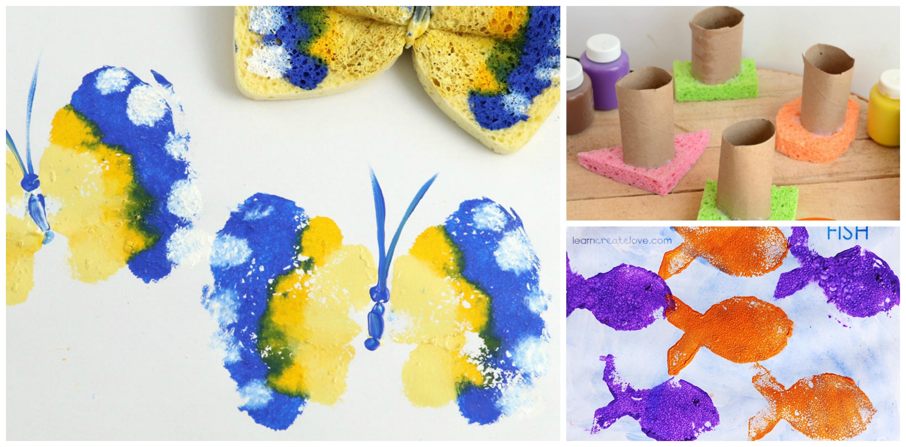 5 Fun Kids Sponge Painting Activities Diy Thought