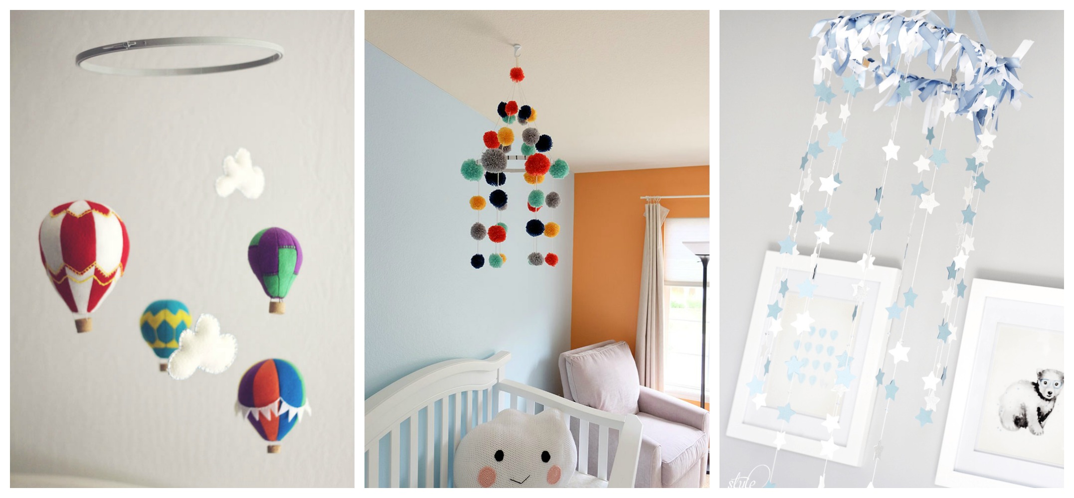 6 adorable diy baby mobiles diy thought. Black Bedroom Furniture Sets. Home Design Ideas