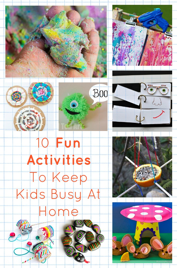 10 fun activities to keep kids busy at home diy thought for Fun projects for kids to do at home