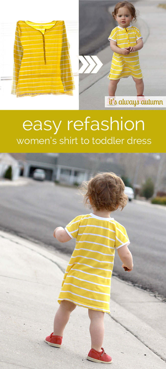 Turn Adult Shirts Into Kids Clothes 5 Ways - diy Thought