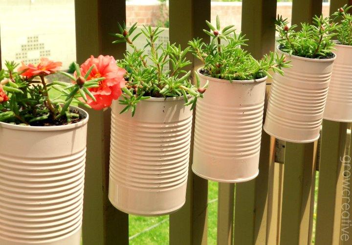 Tin Can Garden Planter