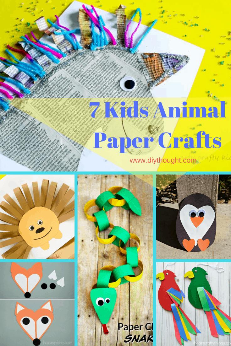7 Kids Animal Paper Crafts
