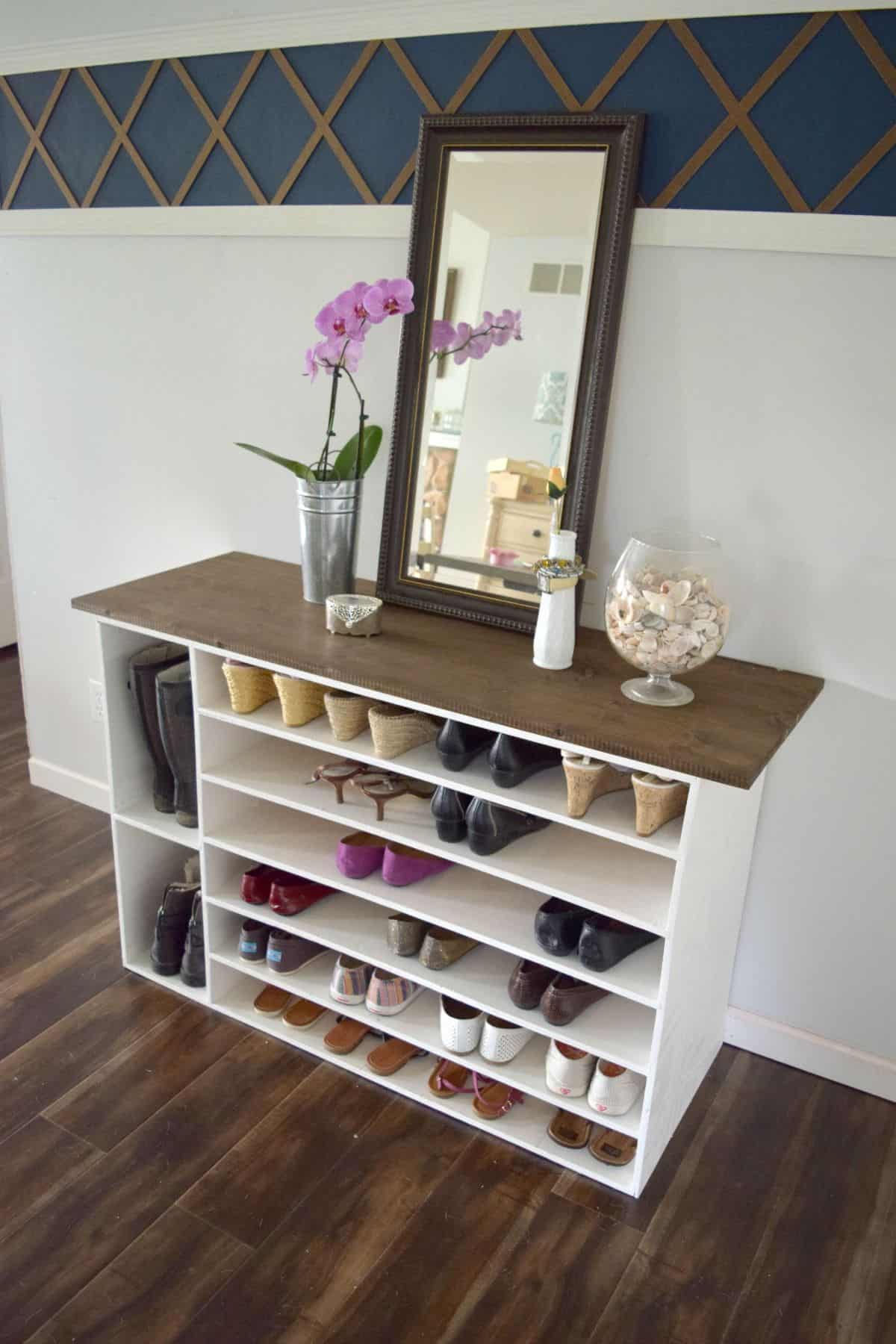 5 stylish diy shoe racks diy thought Stylish shoe rack