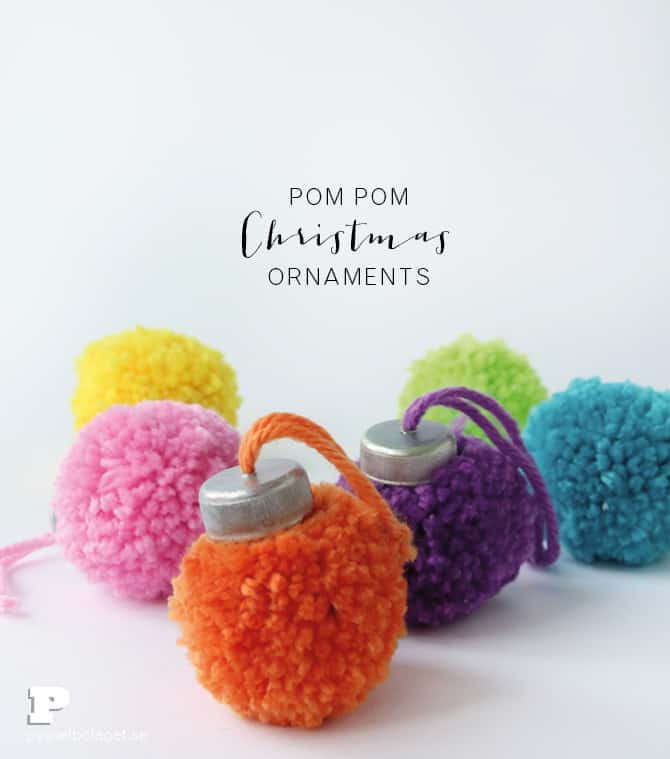 The Pom Pom Ornament Craft That Never Ends: 8 Christmas Pom Pom Crafts