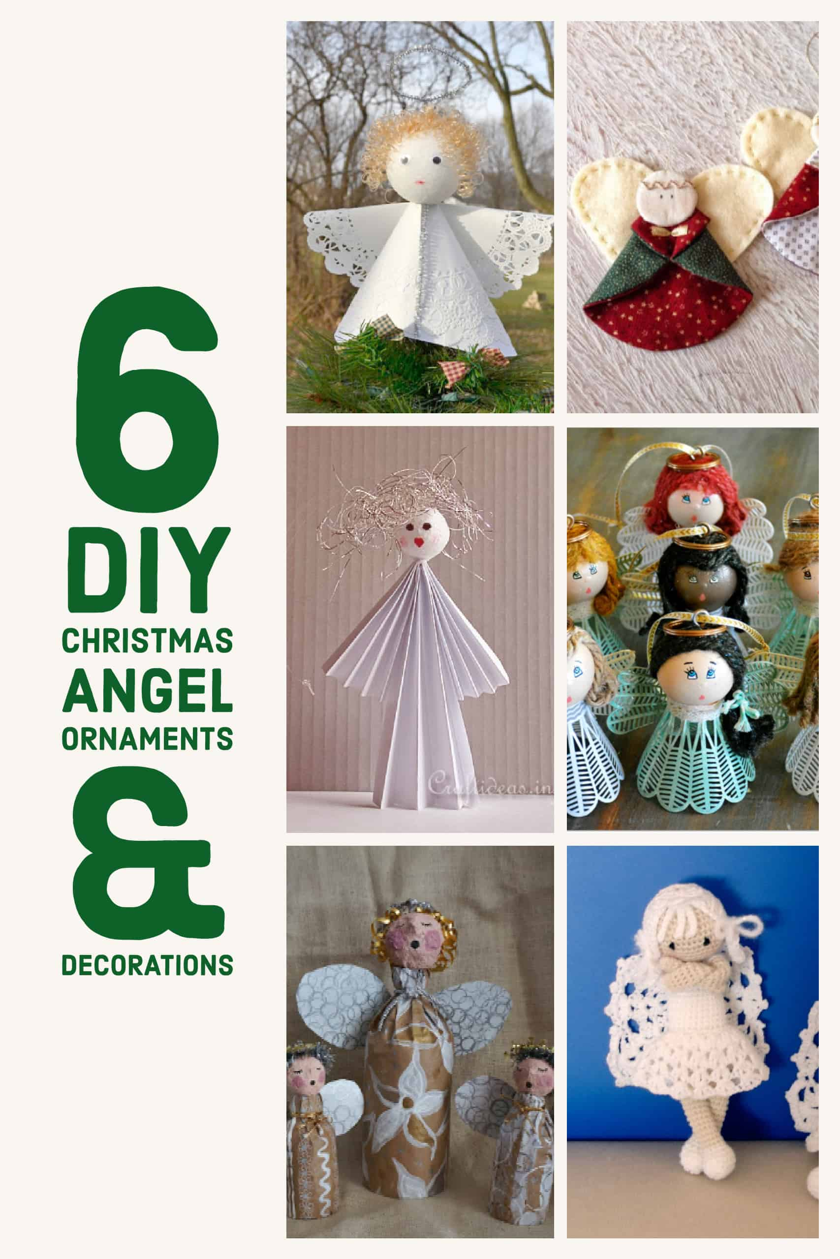 Diy Christmas Angels Ornaments.6 Diy Christmas Angel Ornaments Decorations Diy Thought
