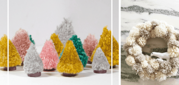 8 Christmas Pom Pom Crafts