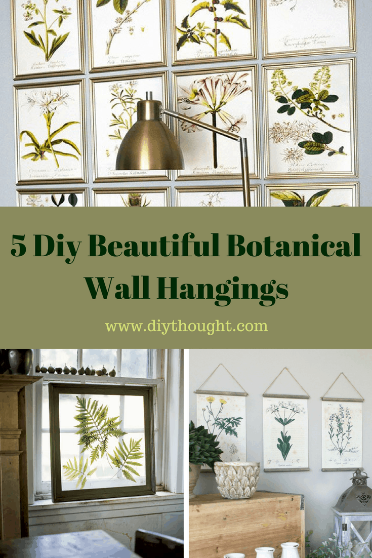 5 Diy Beautiful Botanical Wall Hangings Diy Thought