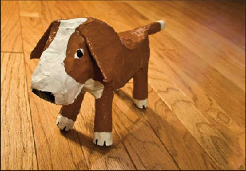 10 dog crafts to celebrate the chinese new year 2018 for How to make a sculpture out of paper mache