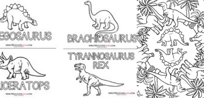 5+ Fun Dinosaur Coloring Printables