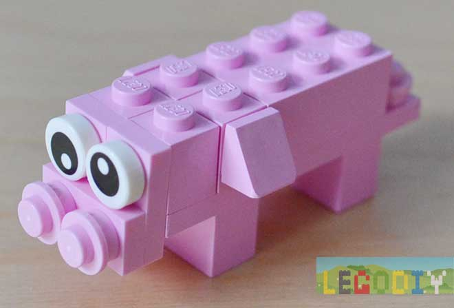5 fun beginner lego animal projects diy thought lego pig solutioingenieria Image collections