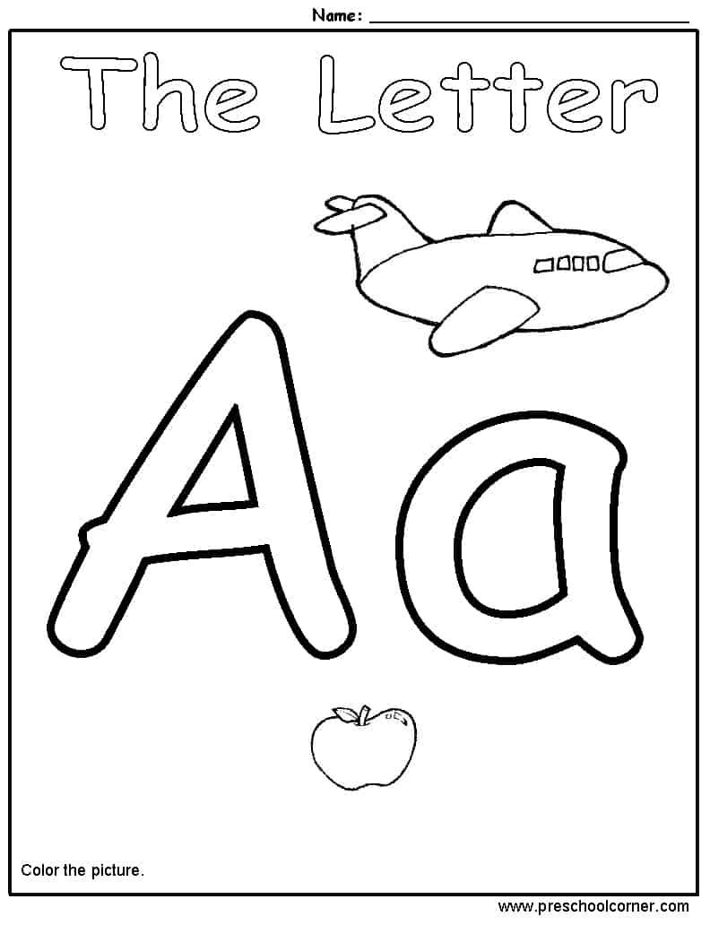 5 letter a preschool printables diy thought letter a color page spiritdancerdesigns Images