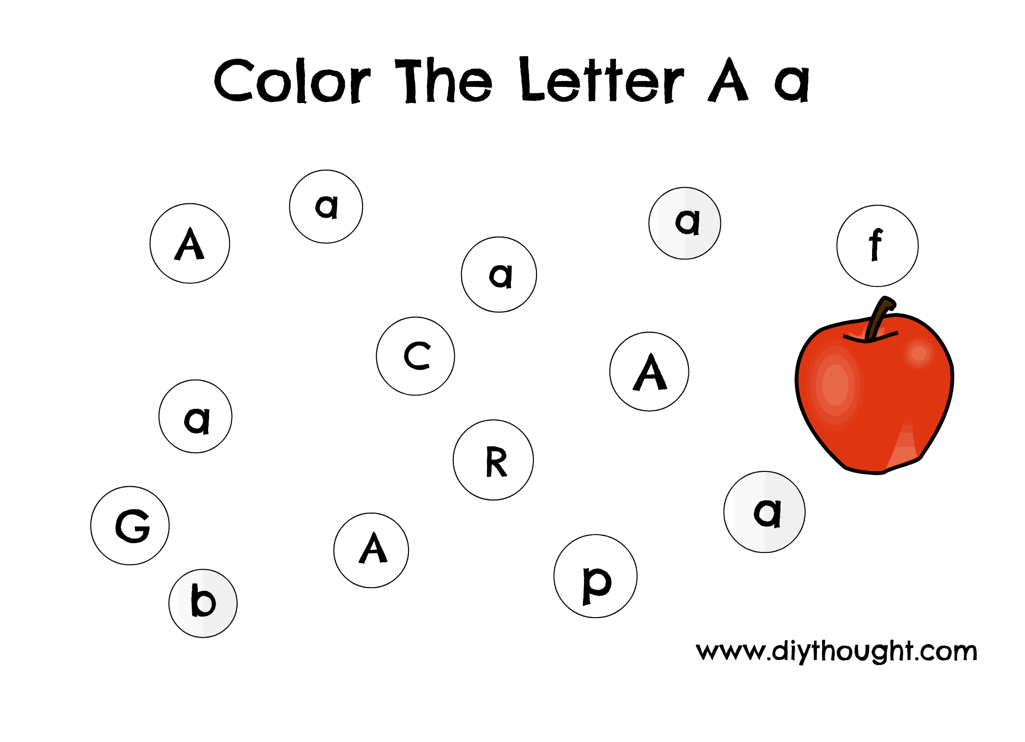 image relating to Printable Letter a known as 5 Letter A Preschool Printables - do-it-yourself Concept