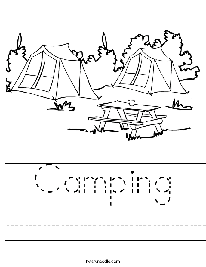 This is a graphic of Declarative Free Printable Camping Coloring Pages