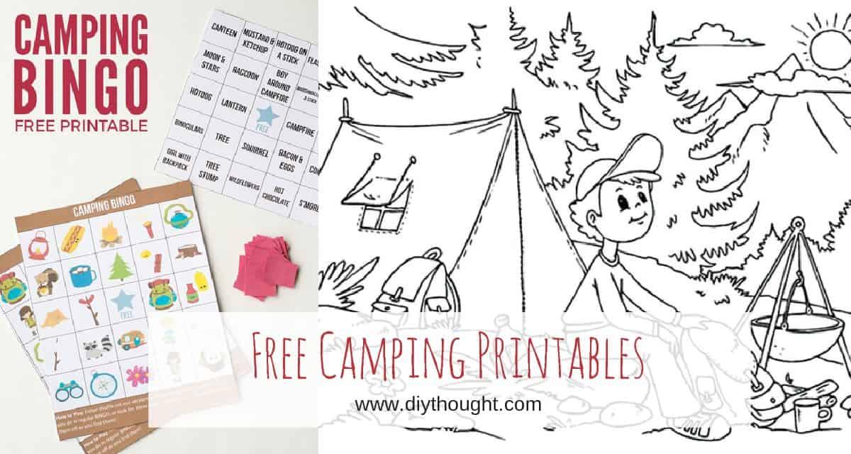 8 Free Kids Printables To Take Camping