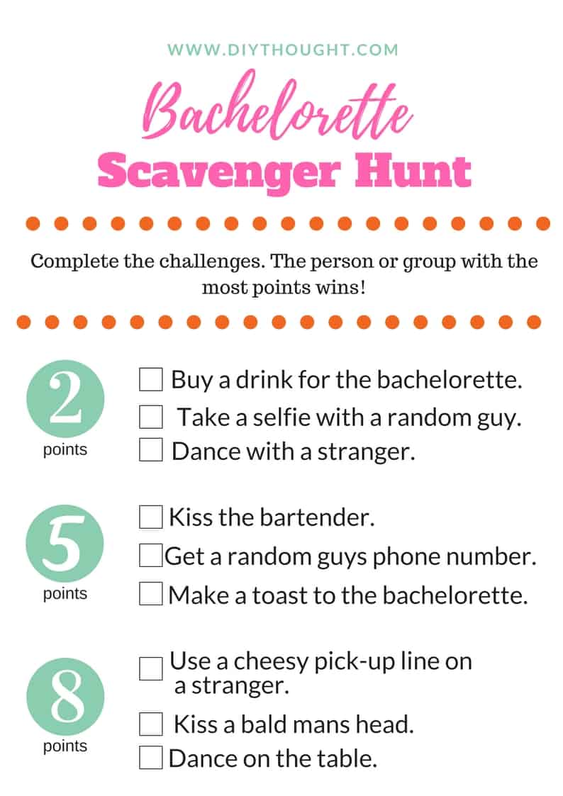 6 Fun Bachelorette/ Hens Party Games - diy Thought
