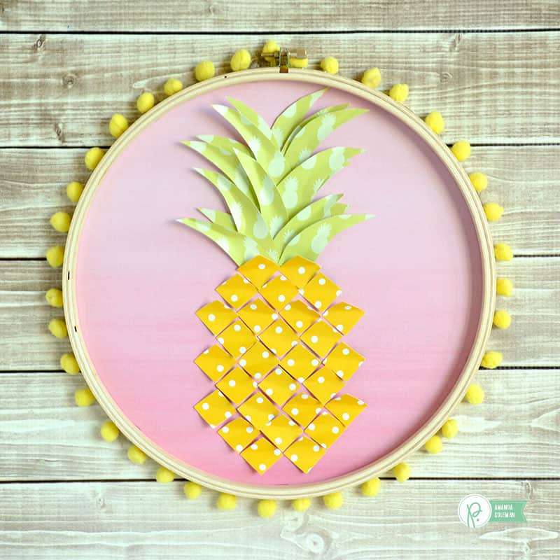 7 Diy Pineapple Home Decor Projects. 1. Pineapple Hoop Art