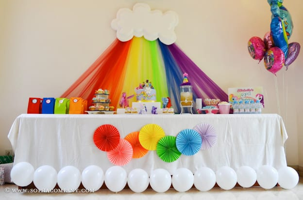 1 Rainbow Cloud Display