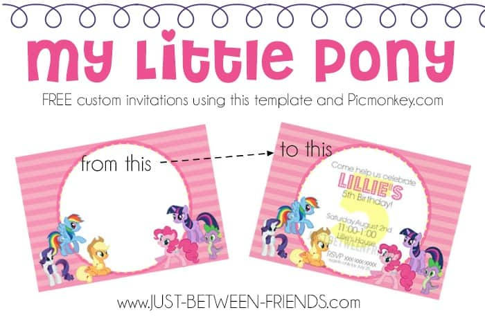 image regarding My Little Pony Invitations Free Printable named Do-it-yourself My Very little Pony Birthday Occasion - do it yourself Consideration