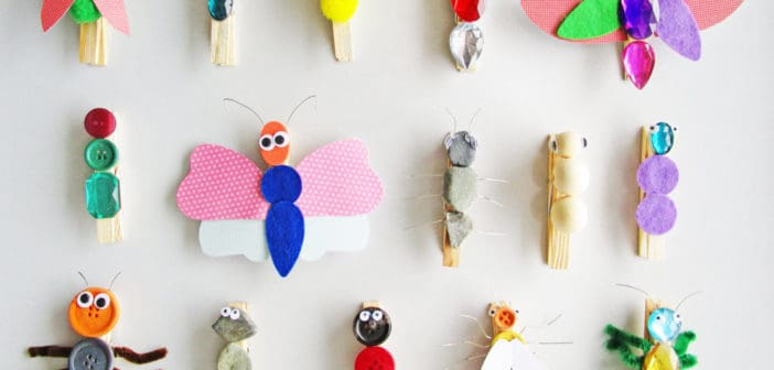 7 New Wooden Clothespin Kids Crafts