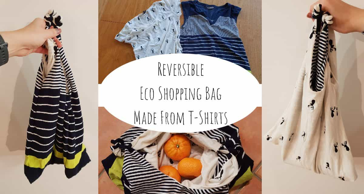 Reversible Eco Shopping Bag Made From T-Shirts