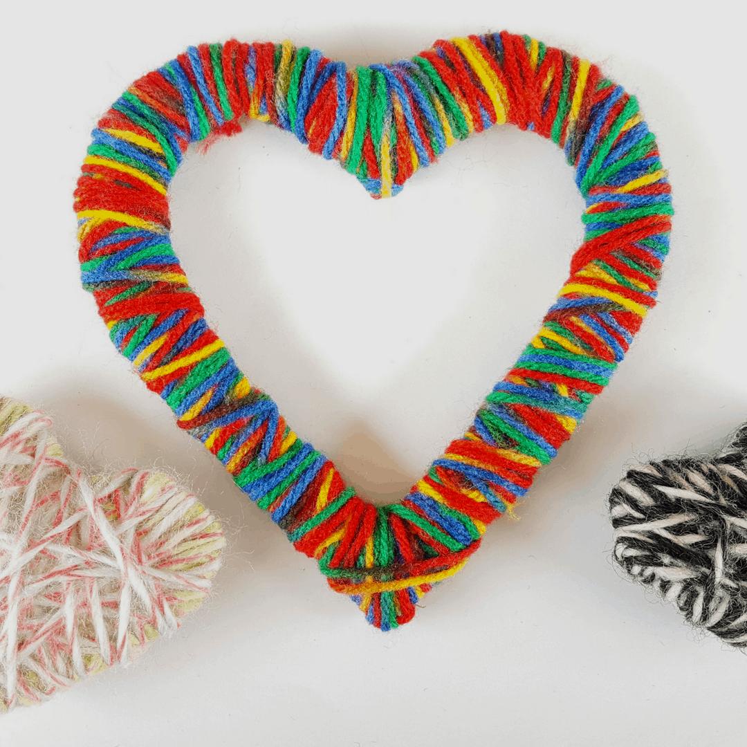 Diy Decorative Yarn Hearts