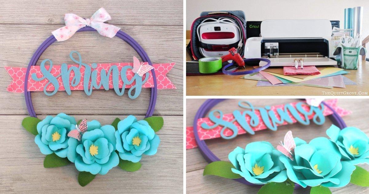 Embroidery Hoop spring wreath