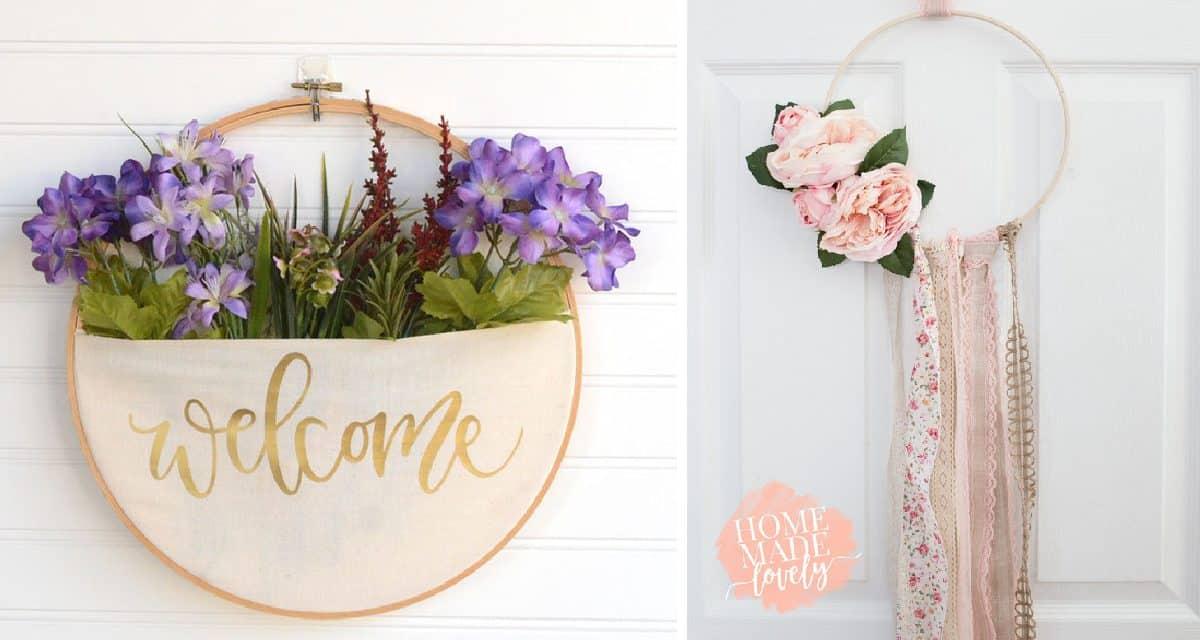 10 Diy Embroidery Hoop Wreaths
