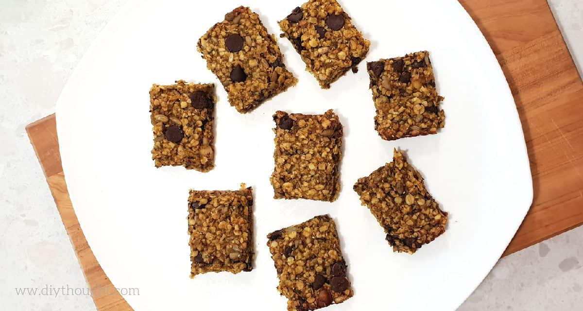 Spiced Pumpkin & Chocolate Granola Bars
