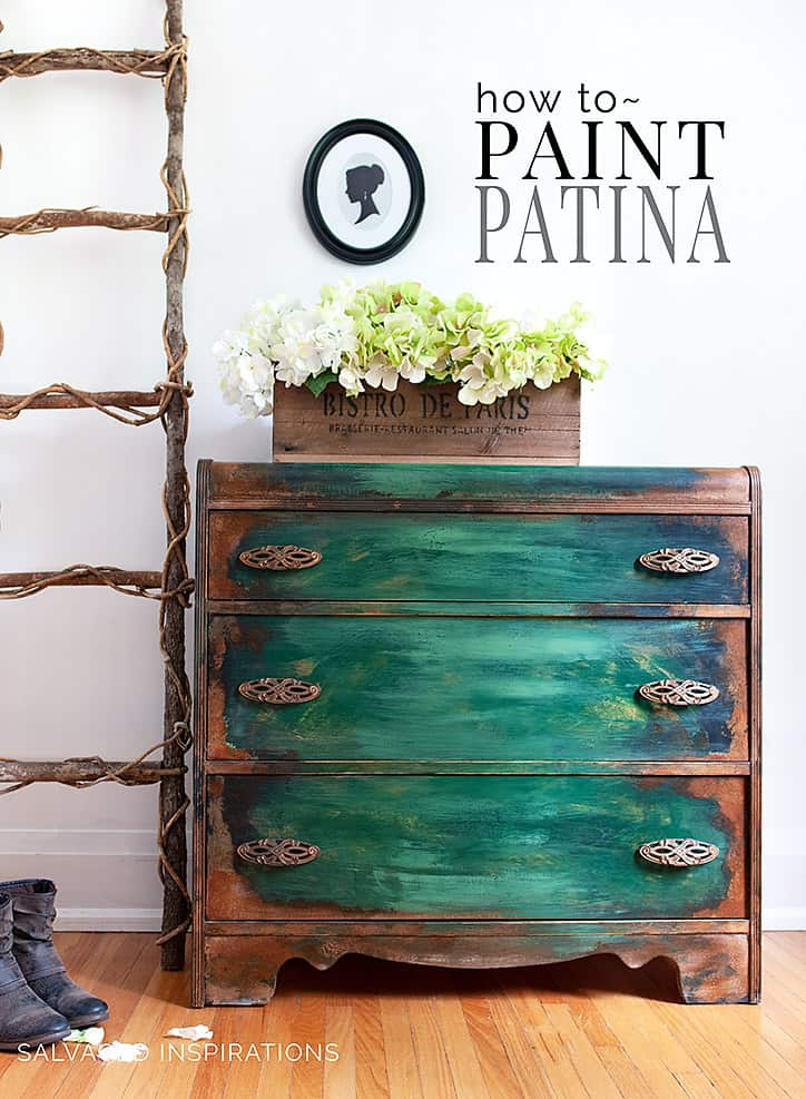 Patina Painted Waterfall Dresser