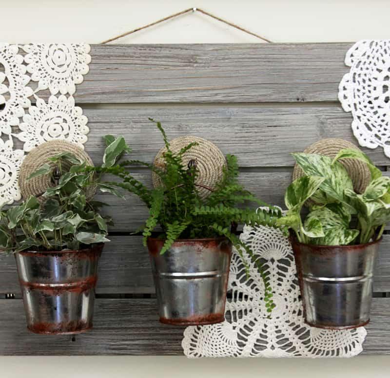 barnwood hanging planter