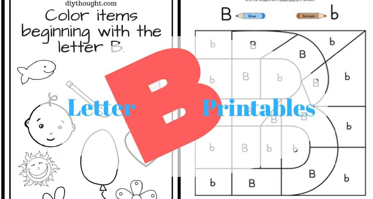 5 Letter B Preschool Printables