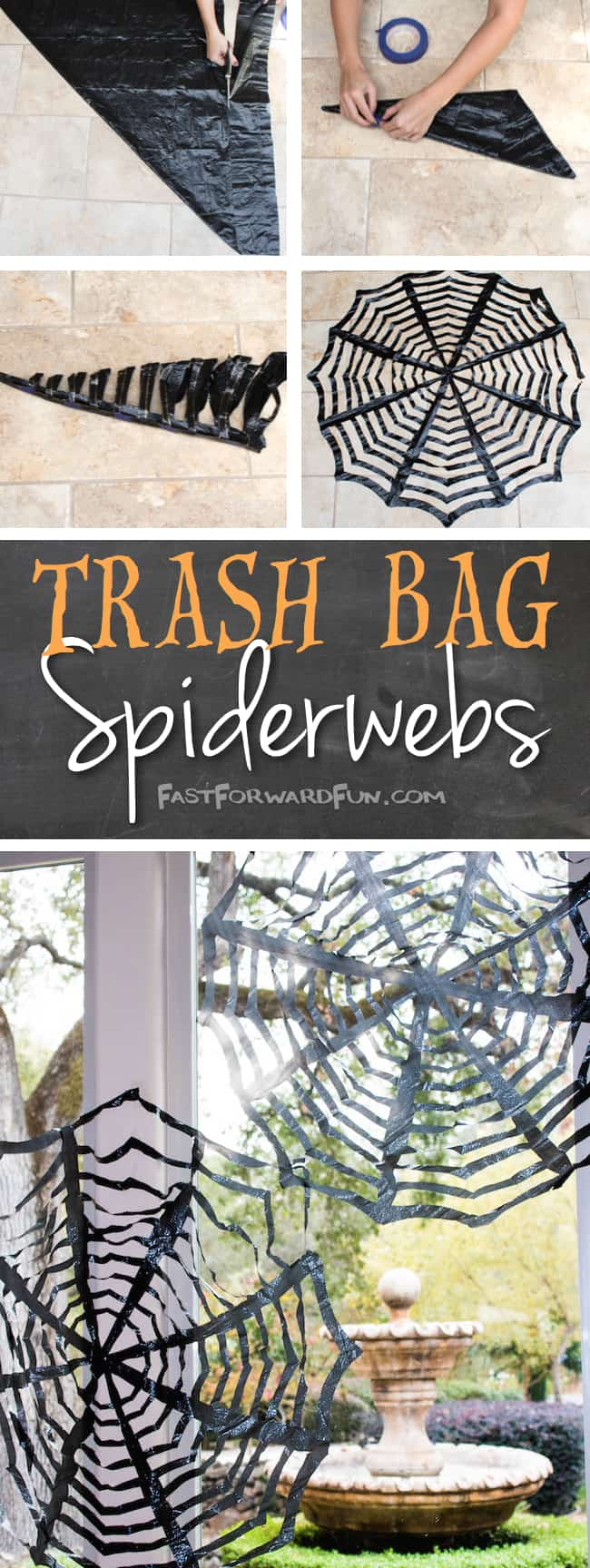 3 Trash Bag Spiderwebs