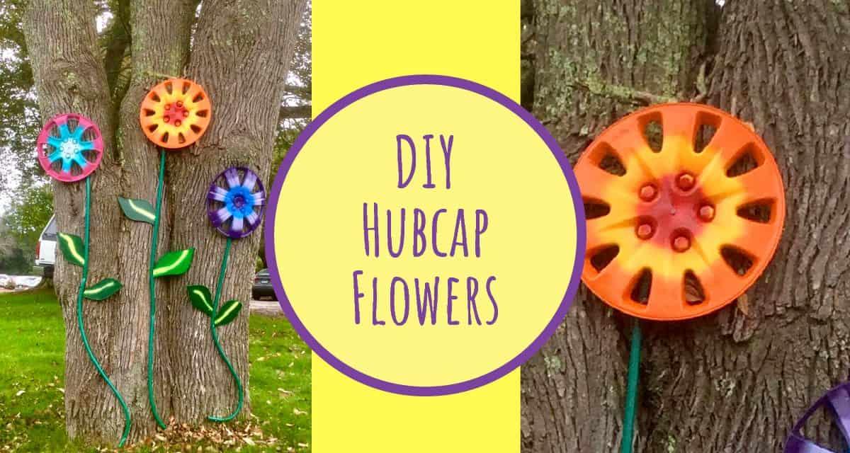DIY Stunning Hubcap Outdoor Flowers